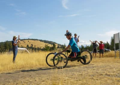 Adaptive mountain bike race montana